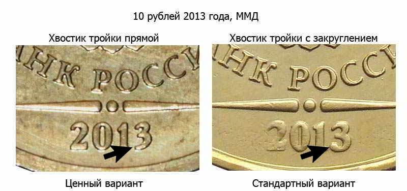 самая дорогостоящая монета 10 рублей 2013 года